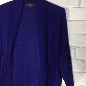 Mossimo Blue Large Open Front Long Cardigan
